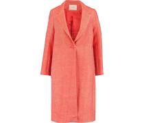 Manteau Cotton And Linen-blend Twill Coat Orange