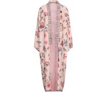 Lina Bedruckter Kimono aus Crêpe De Chine aus Seide
