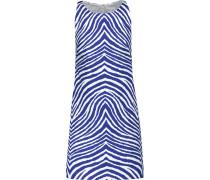 Printed Stretch-cotton Mini Dress Kobaltblau