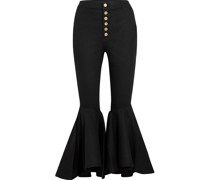Hysteria Button-detailed High-rise Flared Jeans