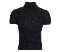 Pullover aus Einer Merinowollmischung mit Metallic-effekt