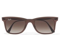 D-frame Acetate Sunglasses Dunkelbraun