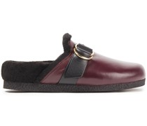Diane Shearling-lined Leather Slippers
