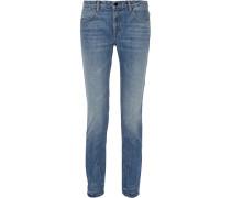 Wang 002 Mid-rise Straight-leg Jeans Mittelblauer Denim