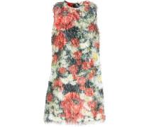 Printed Fil Coupé Mini Dress Mehrfarbig