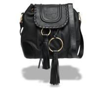 Polly tasseled textured-leather bucket bag