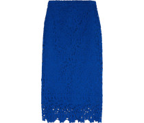 Collection Liola Guipure Lace Pencil Skirt Blau