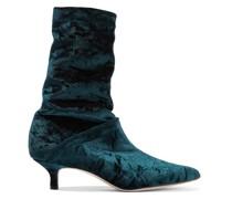 Harper Crushed-velvet Sock Boots
