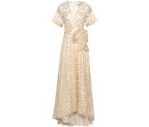 Metallic Fil Coupé Silk-blend Maxi Dress