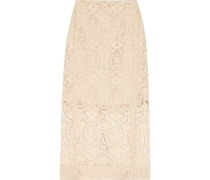 Flocked lace skirt