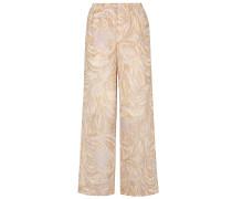 Printed Silk-chiffon Wide-leg Pants