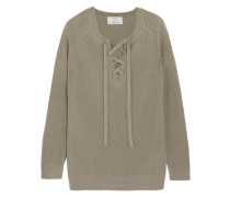 Lace-up wool and cashmere-blend  sweater