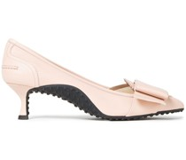 + Alessandro Dell'acqua Bow-embellished Leather Pumps