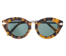 Cat-eye Tortoiseshell Acetate Sunglasses Horn