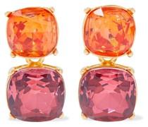 22-karat Gold-plated Crystal Clip Earrings