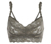 Woman Never Say Never Sweetie Scalloped Stretch-lace Bralette Army Green