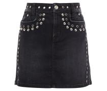 The 7-pocket Eyelet-embellished Studded Mini Skirt
