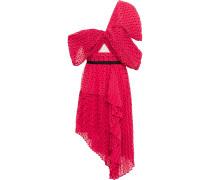 One-shoulder Draped Fil Coupé Georgette Dress