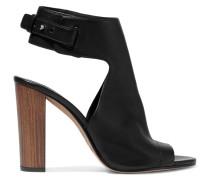 Addie Textured-leather Sandals Schwarz