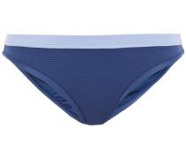 Stretch-piqué Mid-rise Bikini Briefs
