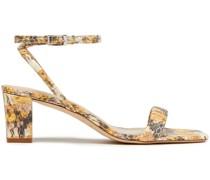 Maeva Sandalen aus Leder mit Schlangeneffekt