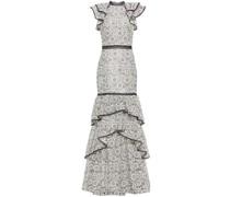 Robe aus Guipure-spitze mit Rüschen