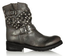 Titanic Studded Leather Ankle Boots Stahlgrau