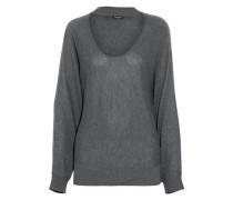 Cutout stretch-knit sweater