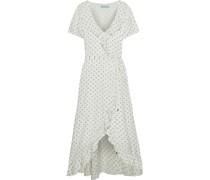 Tilly Maxi-wickelkleid aus Jacquard mit Polka-dots und Rüschen