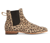 Troy Leopard-print Suede Ankle Boots Leoparden-Print