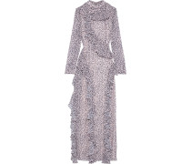 Ruffled Printed Chiffon Maxi Dress
