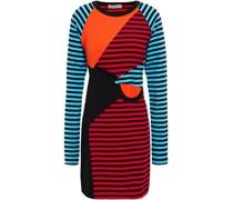 Minikleid aus Baumwoll-jersey mit Raffungen in Colour-block-optik