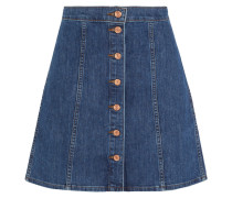 Stretch-denim Mini Skirt Blau
