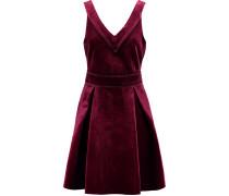 Pleated Velvet Dress Plaume