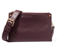 Textured-leather Shoulder Bag Merlot