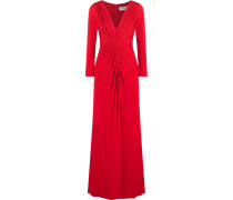 Twist Crepe Gown Rot