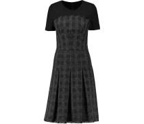 Carice Stretch Jersey-paneled Tweed Dress Schwarz