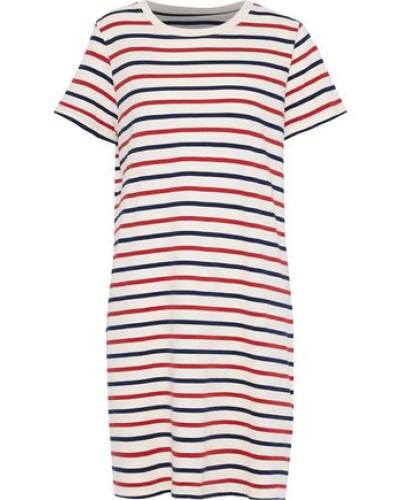 The Beatnik Striped Cotton-jersey Mini Dress Ivory Size 0
