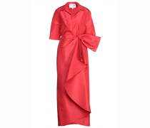 Drapierte Robe aus Seiden-faille mit Schleife