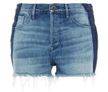 Zweifarbige Jeansshorts
