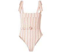Bina Bedruckter Badeanzug mit Gürtel