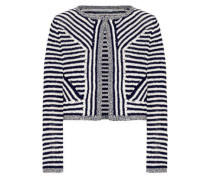 Sydell cropped striped cotton jacket