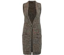 Minareeya Chunky-knit Wool And Silk-blend Vest Anthrazit