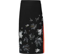 Embellished Crepe Skirt Schwarz