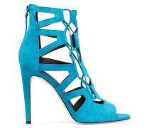 Roxie Cutout Suede Sandals Hellblau