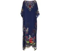Crystal-embellished Floral-print Silk Crepe De Chine Kaftan