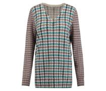 Whitney jacquard-knit cashmere sweater