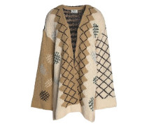 Intarsia cotton cardigan