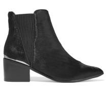 Calf Hair Ankle Boots Schwarz