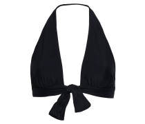 Tie-front Gathered Halterneck Bikini